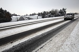 Snow And Ice Continue To Cause Travel Chaos Throughout The UK