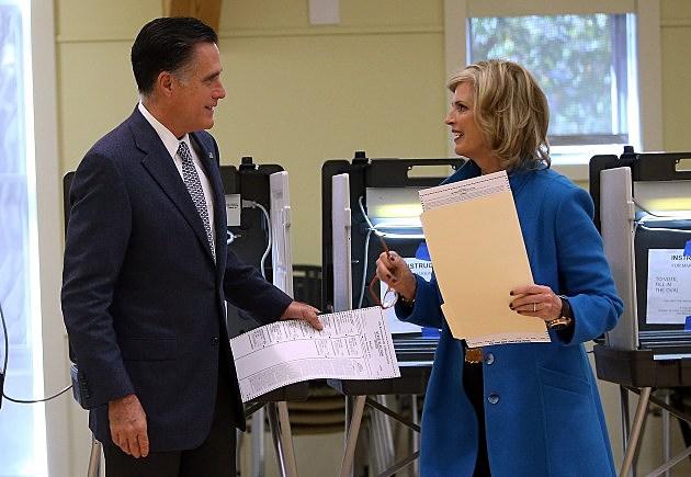 mitt romney ann romney voting
