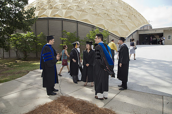 Centenary grads outside Gold Dome