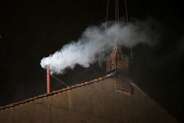 White smoke over Vatican City