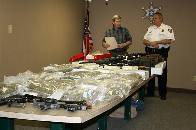 photo of drugs and guns