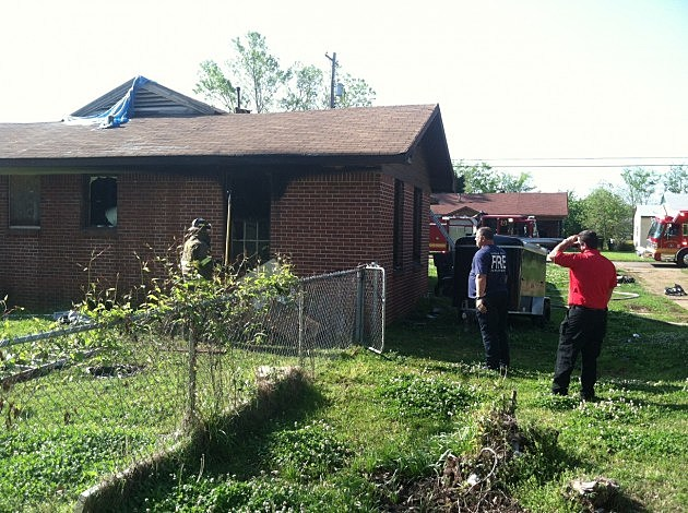 photo of Bossier City duplex damaged by fire