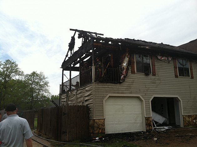 photo of bossier city house damaged by fire