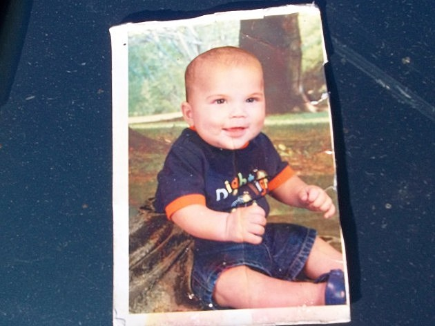photo of baby from recovered wallet