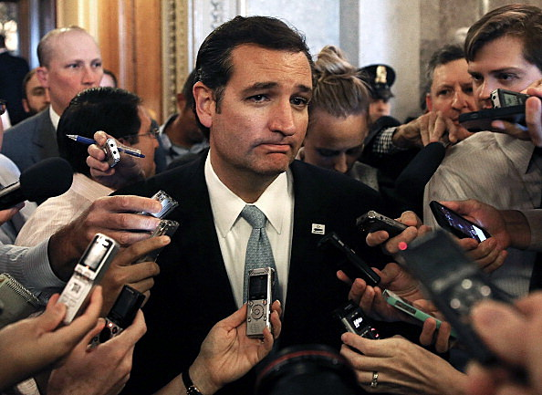 Sen. Ted Cruz (R-TX) Pulls All Nighter Speaking In Congress Advocating The Defundin