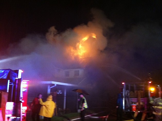 photo of Village Lane house fire