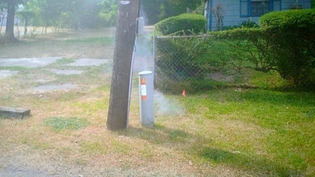 Sewer smoke
