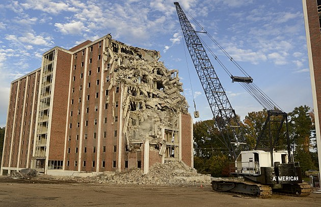 photo of Neilson Hall demolition