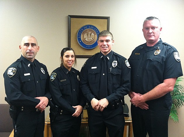 photo of new Bossier City police officers
