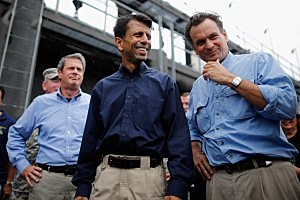 Louisiana Gov. Jindal Inspects 17th St Canal Ahead Of Storm