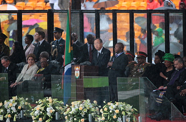 The Official Memorial Service For Nelson Mandela Is Held In Johannesburg