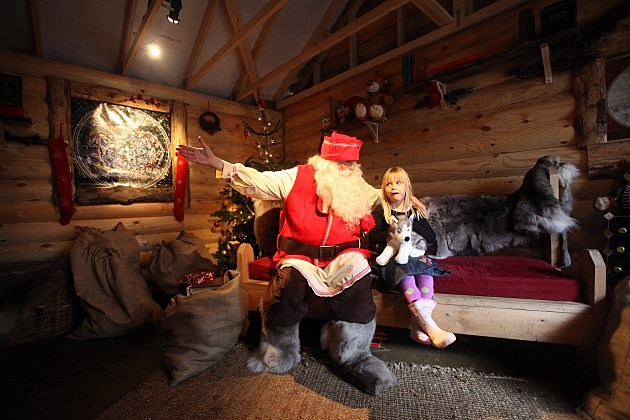Children Revel In Spirit Of christmas At Lapland UK