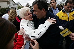 Gov. Christie Visits Storm Ravaged Town