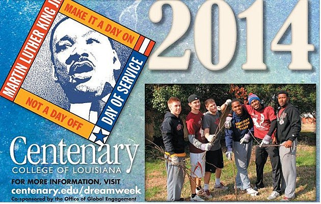 martin luther king dream week at centenary college