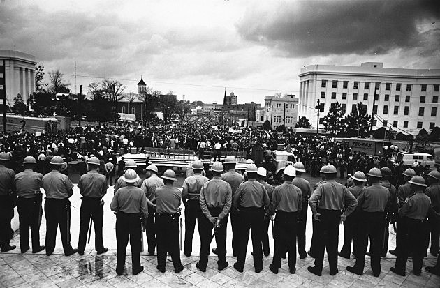 Line Of Policemen