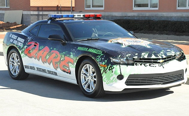 photo of Bossier Sheriff's Office D.A.R.E. car