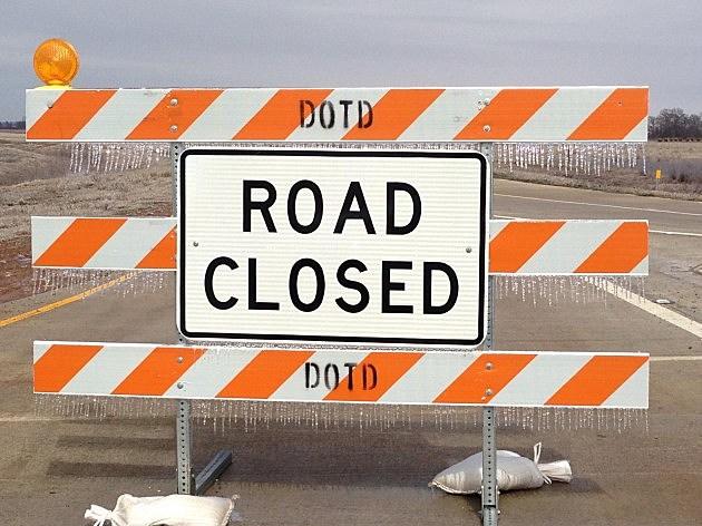 photo of road closed barricade