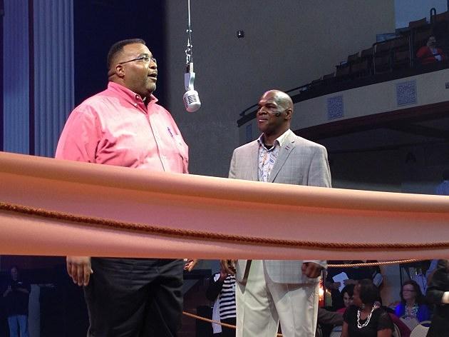 "photo of Mayor Glover and ""Tyson"" look-alike"