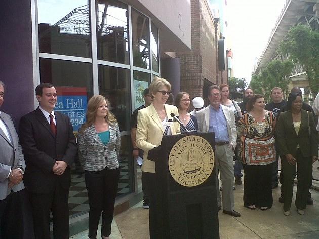 DDA Director Liz Swaine announcing Pop-Up businesses