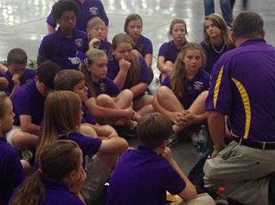 photo of Benton Elementary School archers at 2014 NASP National Tournament
