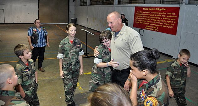 photo of Deputy Hoff with Young Marines