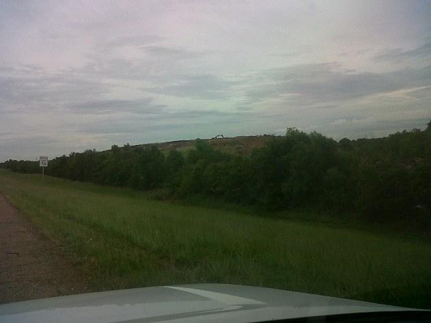 photo of Harrelson landfill from I-220