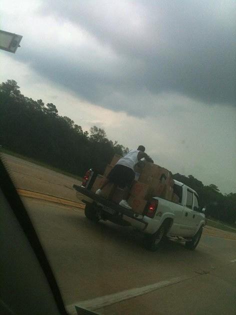 guy on pickup truck