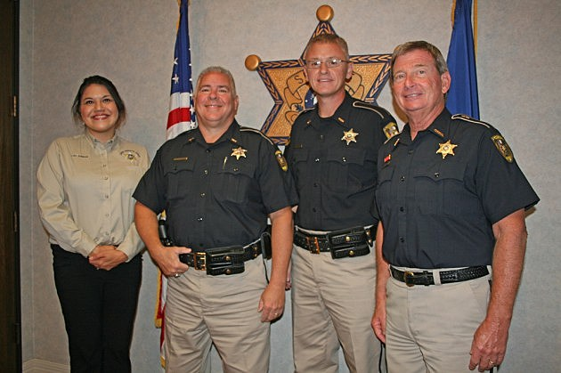 photo of new COHSEP staff with Sheriff Prator