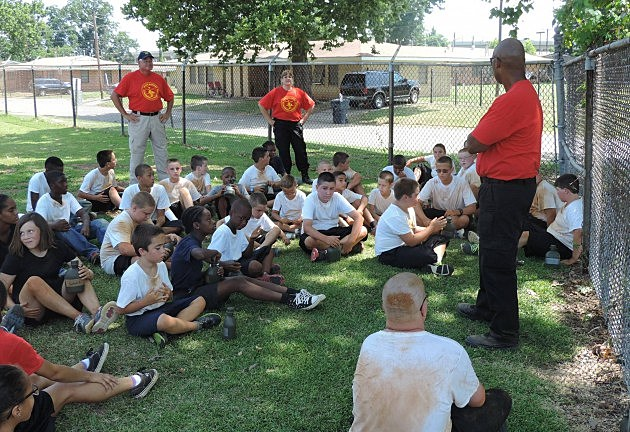 photo of Young Marine recruits - class #30