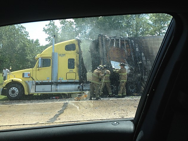 photo of I-20 truck fire