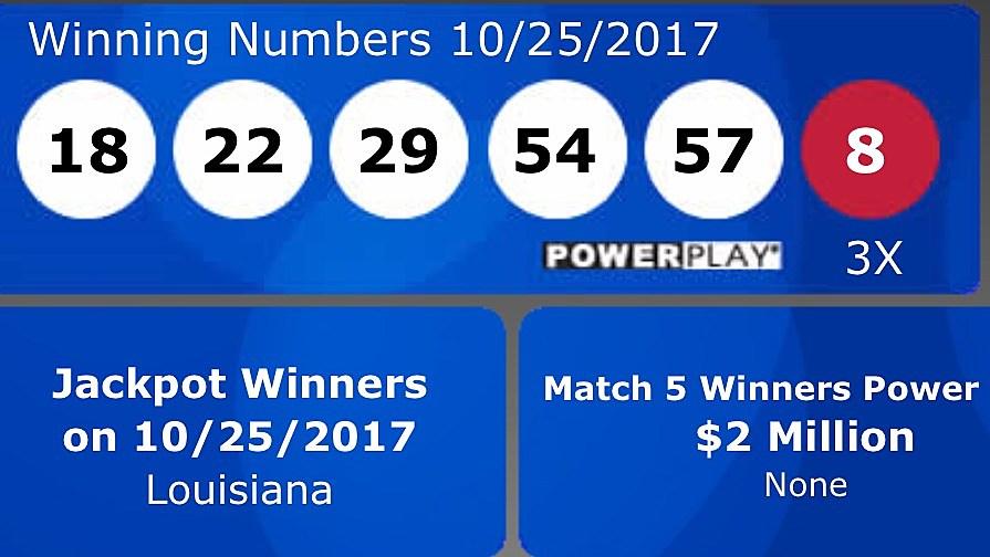 Winning Power Ball Ticket Sold In Louisiana