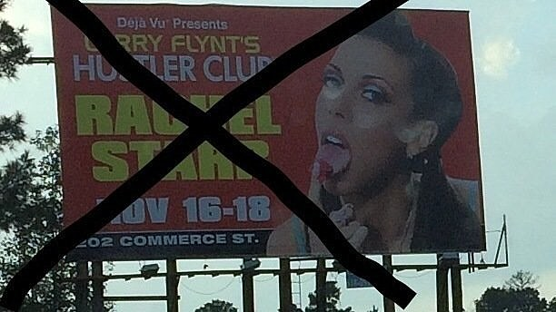 HUSTLER CLUB BILLBOARD